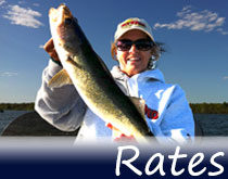 Client rates for guided fishing trips from Remington Guide Service